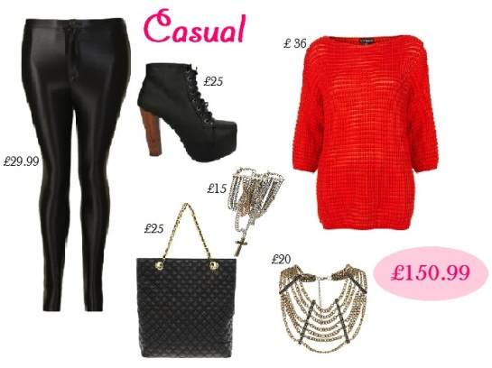 Casual. how to style disco pants, oversized jumper