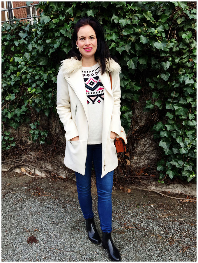 jumper, jeans, coat - h&m, bag - other stories, lipstick - mac #ootd #fashion #coat #jumper #jeans #bag #boots #lipstick #pinklipstick #h&m #otherstories #lemonjelly #mac #winter http://junegold.blogspot.de