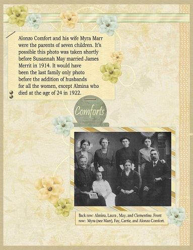 Family History Scrapbook page