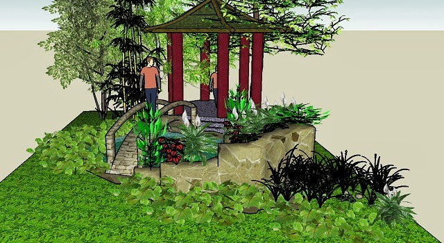 jardines que me gustan google sketchup herramienta social. Black Bedroom Furniture Sets. Home Design Ideas