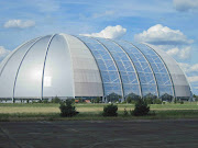 . bolthole that's been created within a gigantic dome built to house . (germany berlin tropical island exterior)