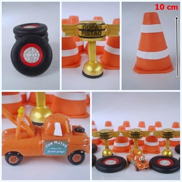 pneus, cones e copa pistão