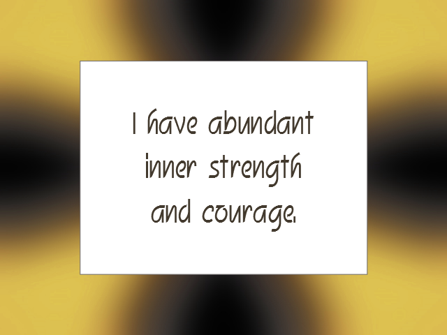 COURAGE affirmation
