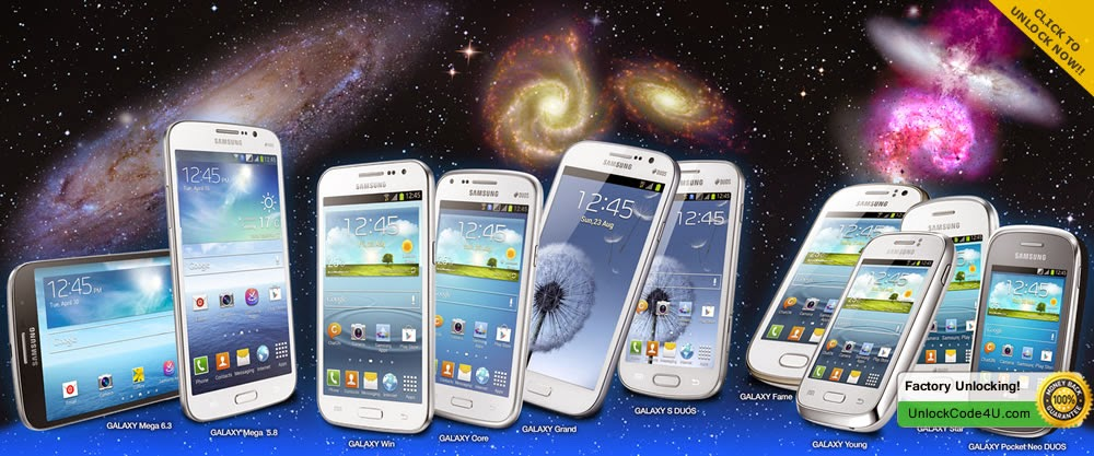 Factory Unlock Code for any Samsung Galaxy Phone