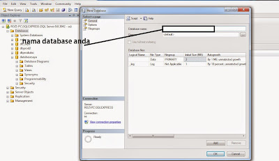 Membuat Database dan Table di Sql Server 2005