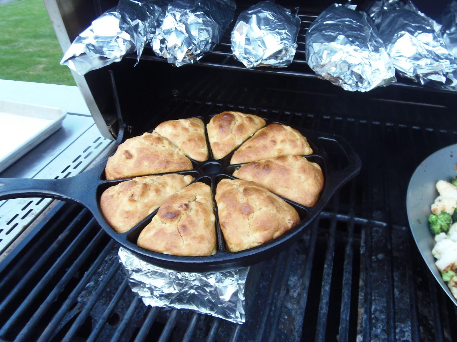 Cast Iron Grilled Skillet Cornbread Kudos Kitchen By Renee