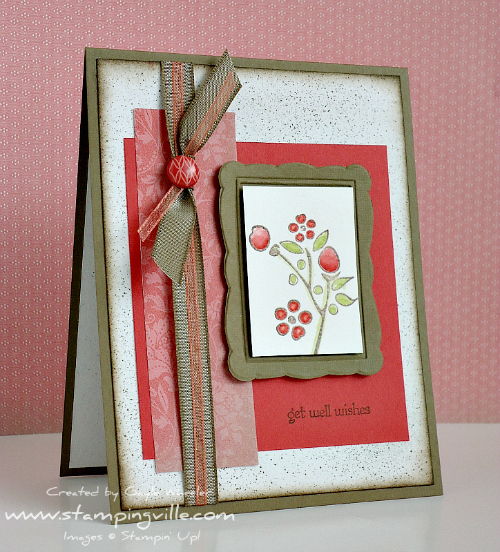 Stampin' Up! Bordering on Romance Get Well Card