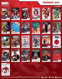 Calendario Febrero 2017 Marvel Comics México
