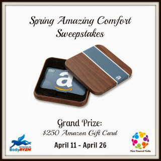 Enter the Spring Amazing Comfort Giveaway for a $250 Amazon gift card. Ends 4/26.