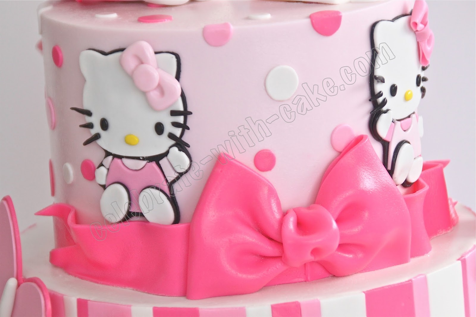 Celebrate With Cake 1st Birthday Hello Kitty Tier Cake