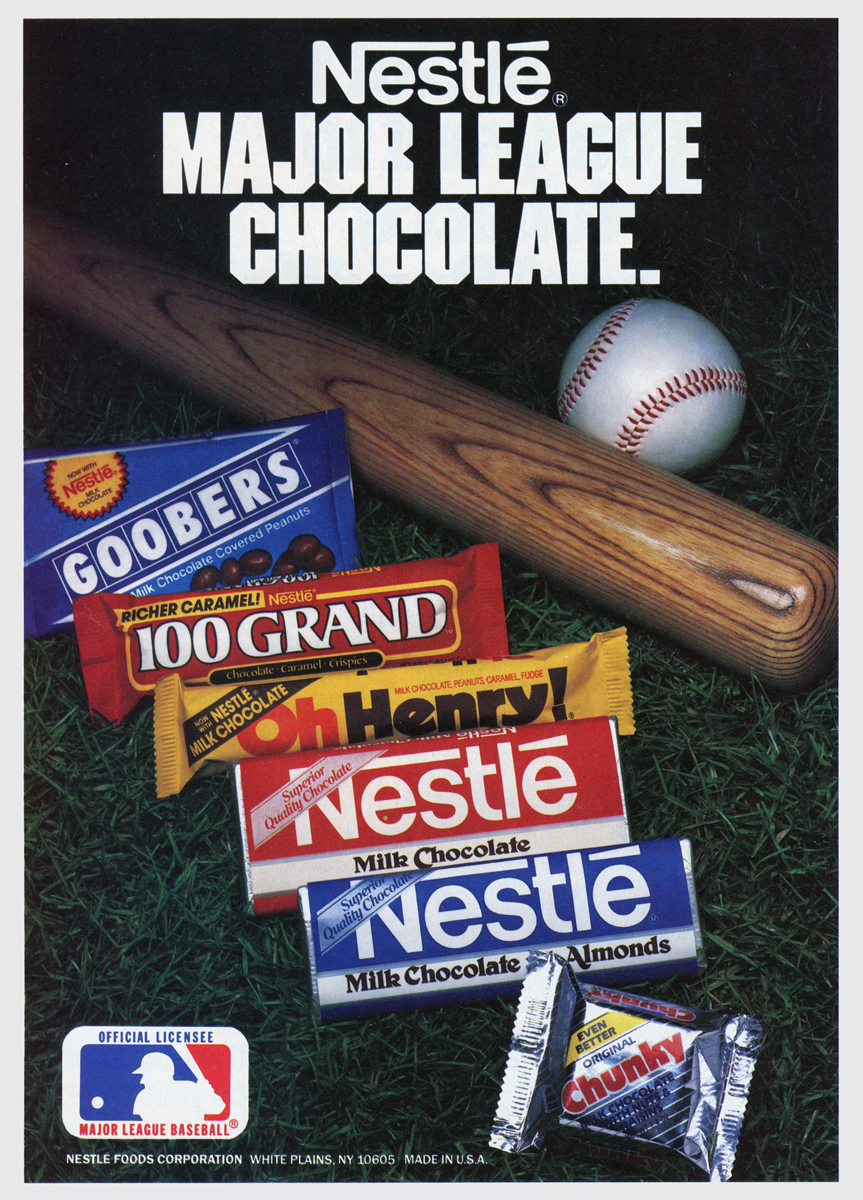 Neato Coolville: TWO 1980S CANDY BASEBALL ADS