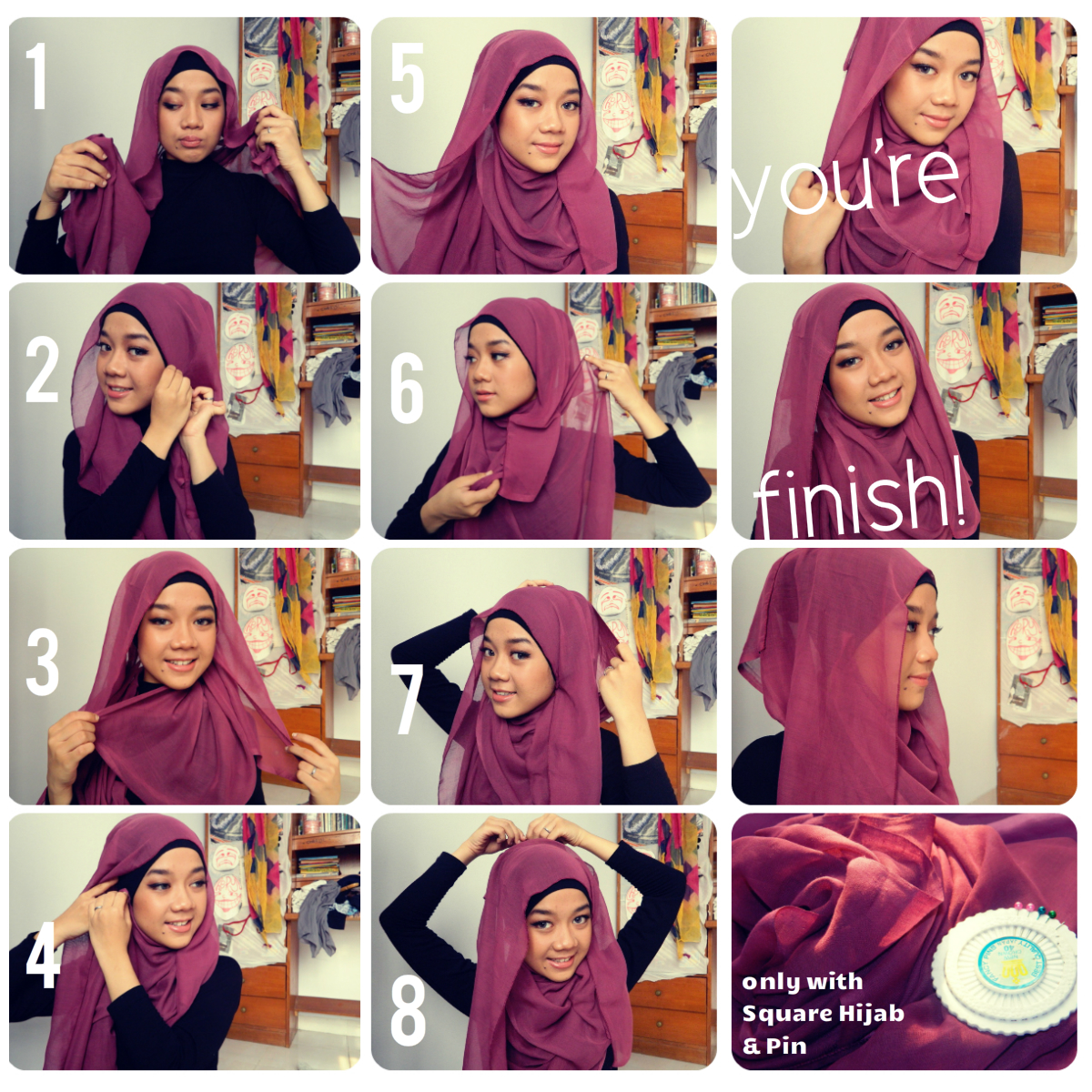 gambar tutorial hijab pesta