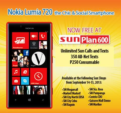 Nokia lumia 720 free at sun plan 600 teknogadyet for Sun mobile plan