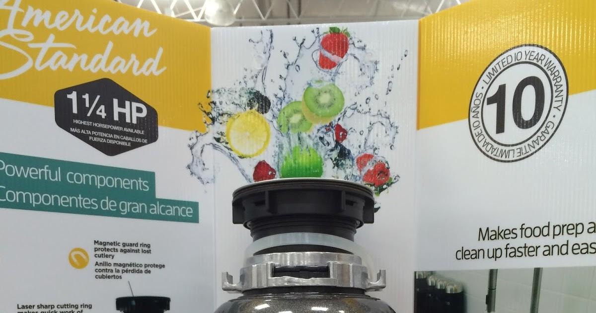 Costco Garbage Disposal >> American Standard Kitchen Waste And Garbage Disposal Costco Weekender