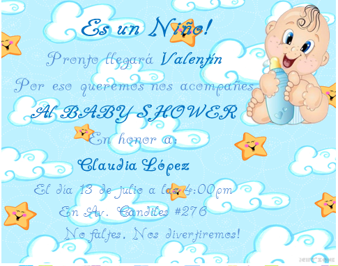 Detallitos Isa &Lau: CATALOGO INVITACIONES BABY SHOWER NIÑO