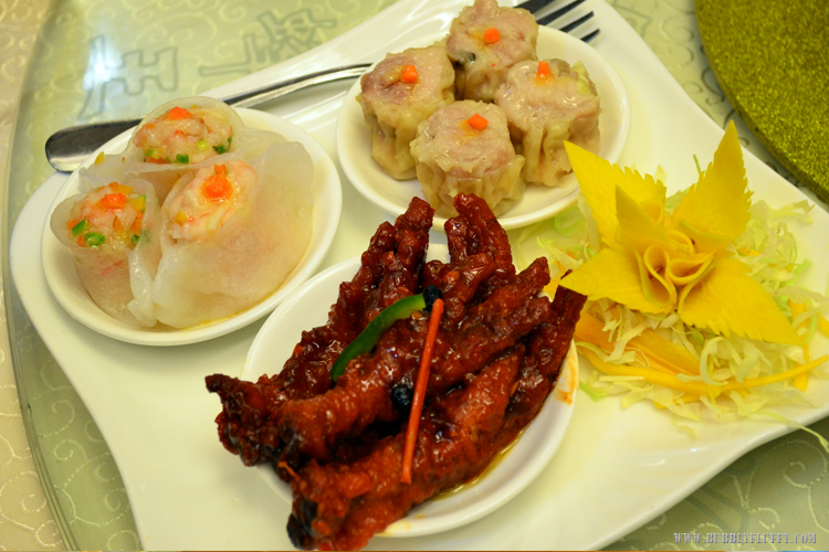 Bird Siomai, Pork Siomai and Chicken Feet