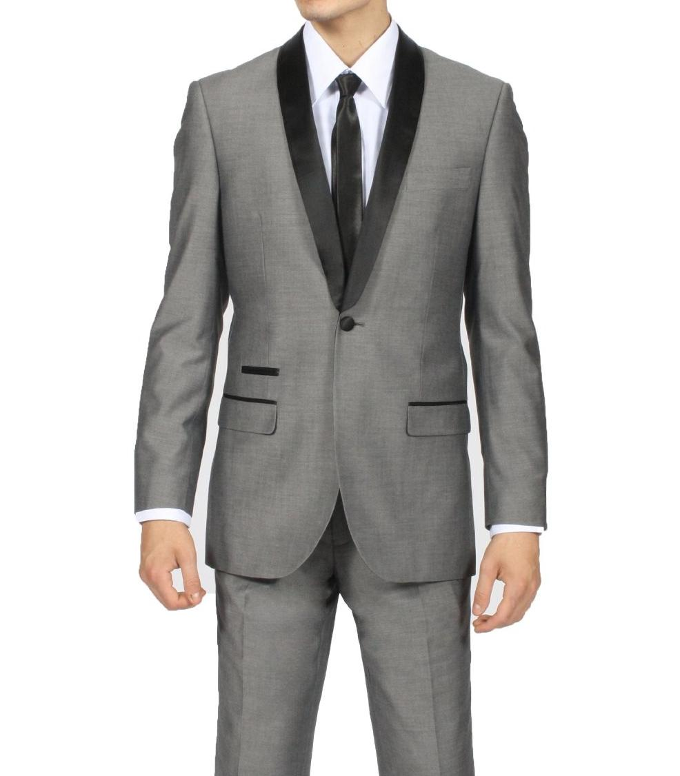 Black And Grey Prom Suits Dress Yy