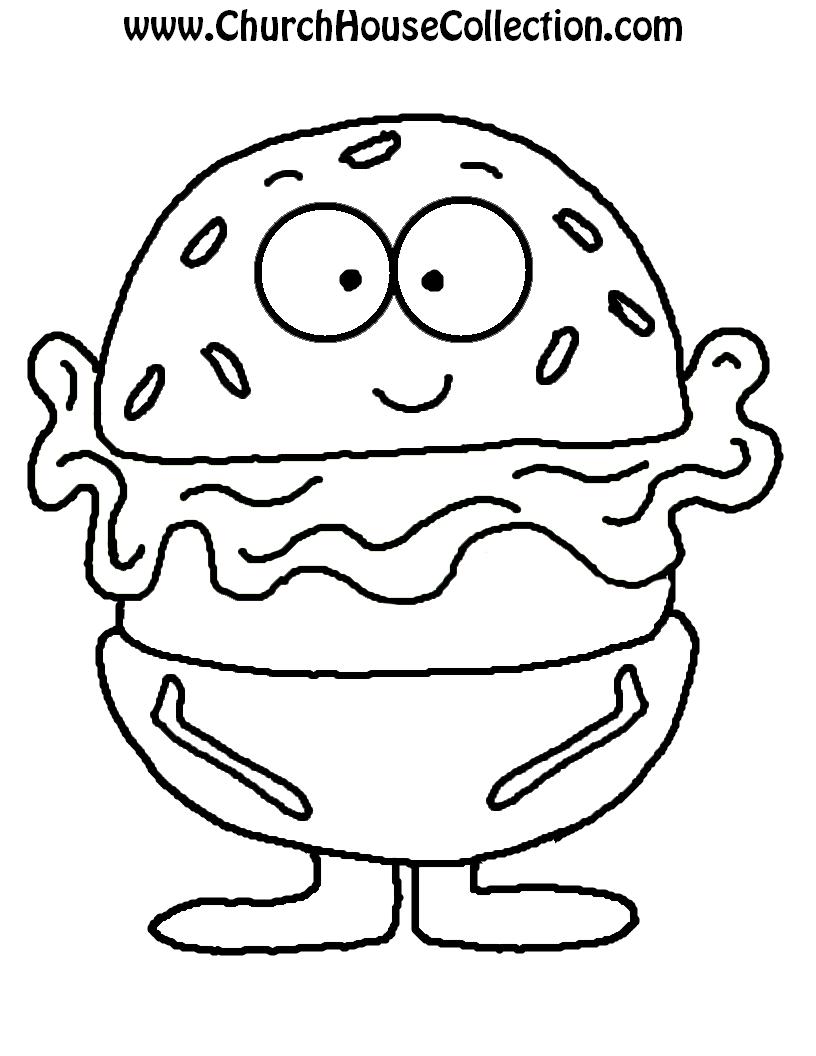 Hamburger Template Printable
