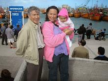 Con papá en el puerto de Mar del plata