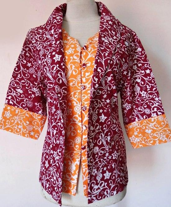 Baju batik modern untuk pria dan wanita serta model baju batik modern.