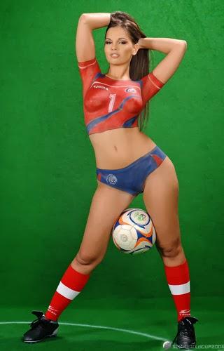 Female Soccer Body Painting