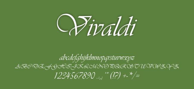 Kumpulan Font Undangan - Vivaldi Font