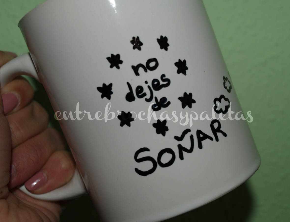 taza decorada diy