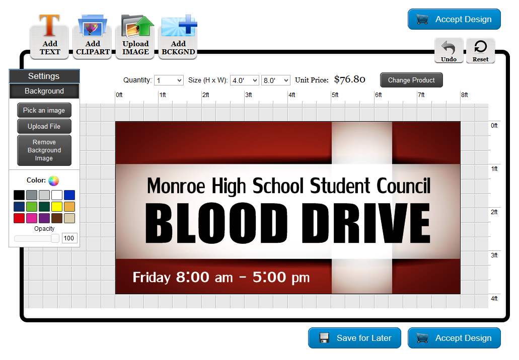 Student Council Banner Template in the Online Designer | Banners.com