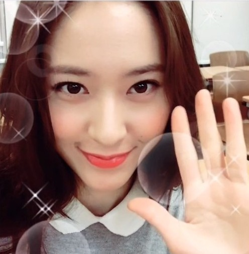 fx krystal snap adorable selfies for etude house
