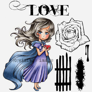 Visible Image stamps character stamp love rose shadow gate stamp