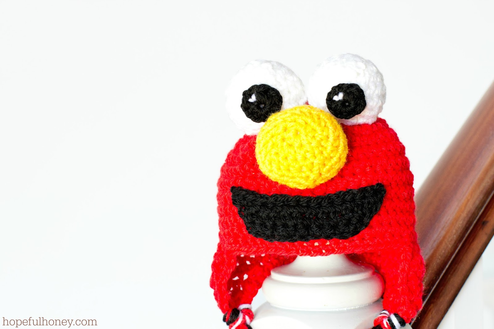 Elmo inspired baby hat pattern craftbnb hopeful honey craft crochet createsesame street elmo bankloansurffo Gallery