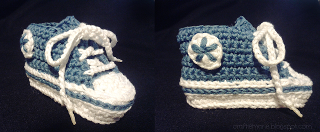 Patucos converse patron gamchillo baby booties pattern