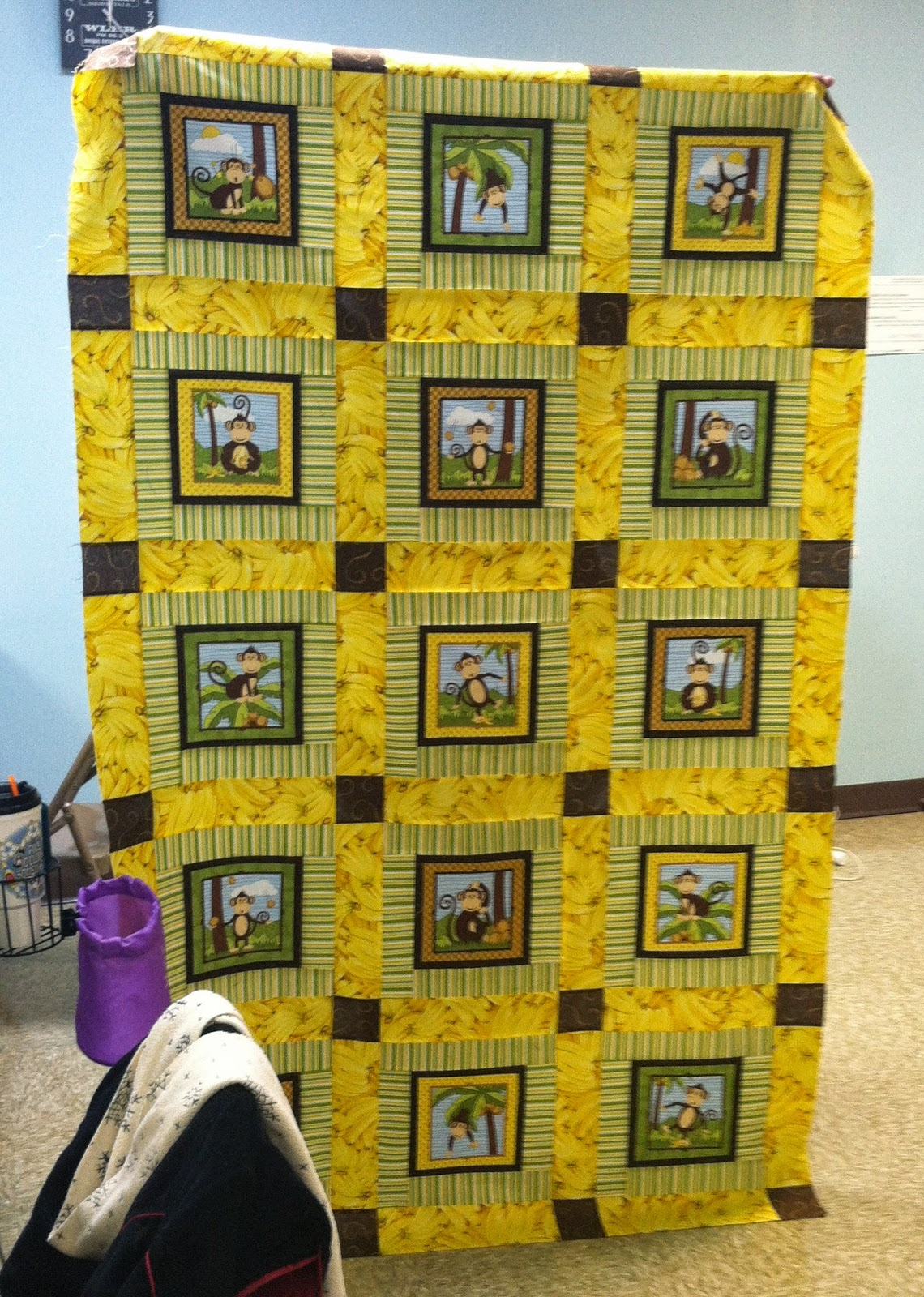 Old Bags Day - Sewing with Friends - Monkey Quilt