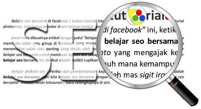 Belajar seo bersama di facebook
