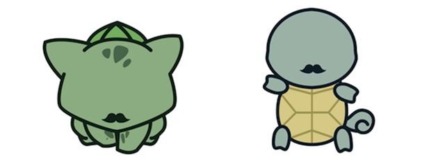 bulbasaur pokemon with mustache