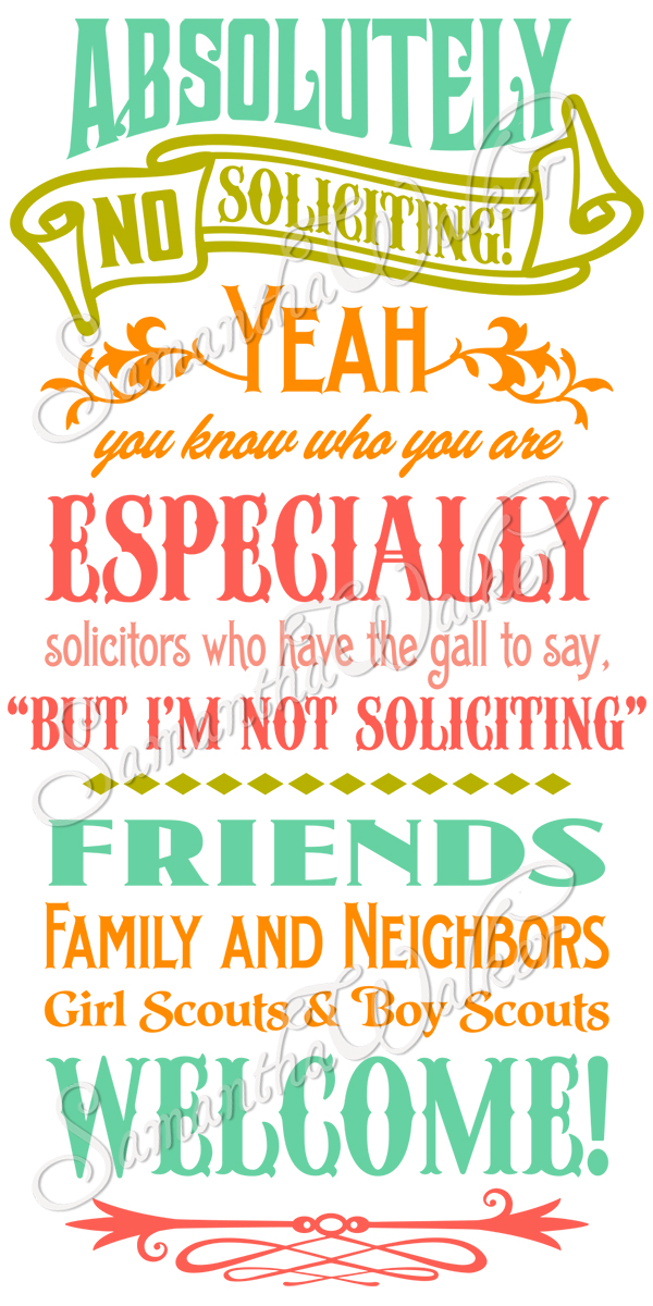 Breathtaking image with regard to free printable no soliciting sign