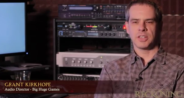 Grant Kirkhope  formerly a Rare composer and now working at Big Huge    Grant Kirkhope