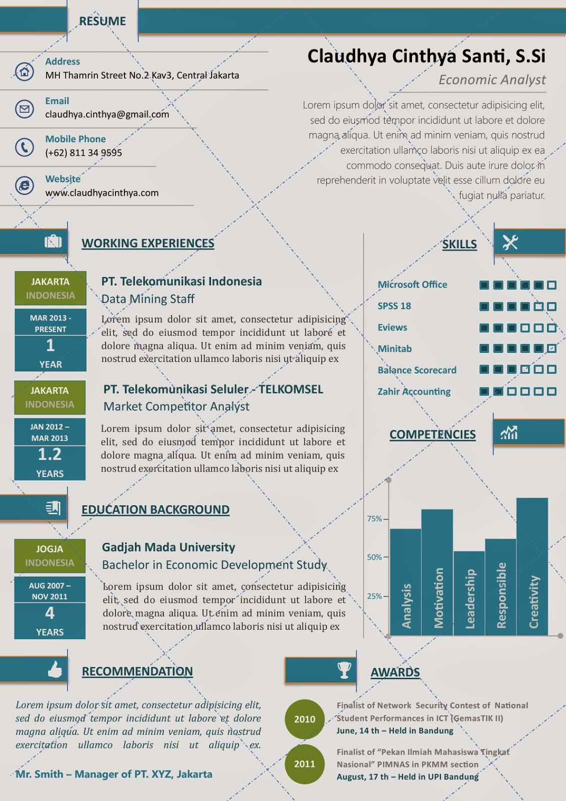 Free Infographic Resume Templates For Ms Word   ChesslinksInfo