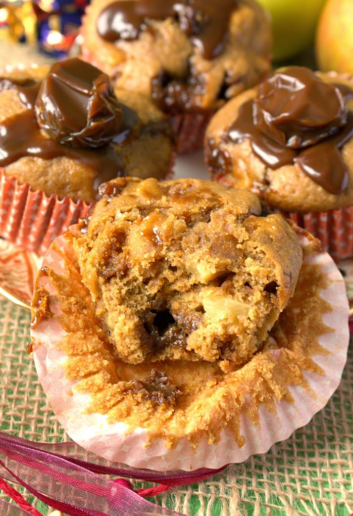 Bonfire Treacle Toffee and Apple Muffins. Perfect comforting flavours of autumn or fall.
