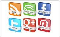 Tutorial Membuat Widget Sosial Media Dengan Efek Memutar Di Blog