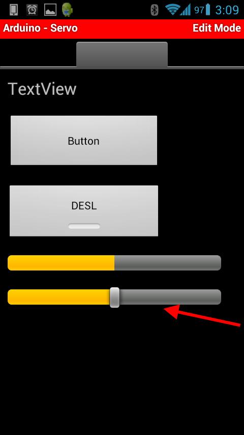 Microcontroller BT - Modo de edição - Botões