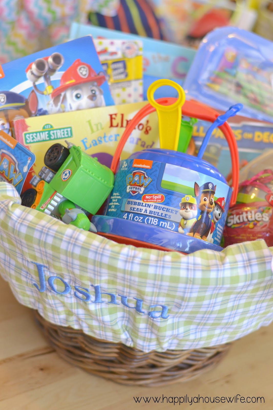 Happily a housewife easter basket ideas for kids joshua boy age 2 loves paw patrol negle