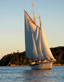 Wendameen, an antique schooner in Maine