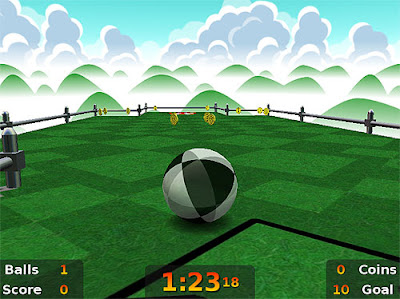 Never Ball, a one-switch adapted Super Monkey Ball influenced game.