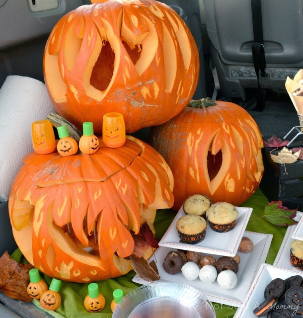 pumpkin patch tailgating party pumpkins