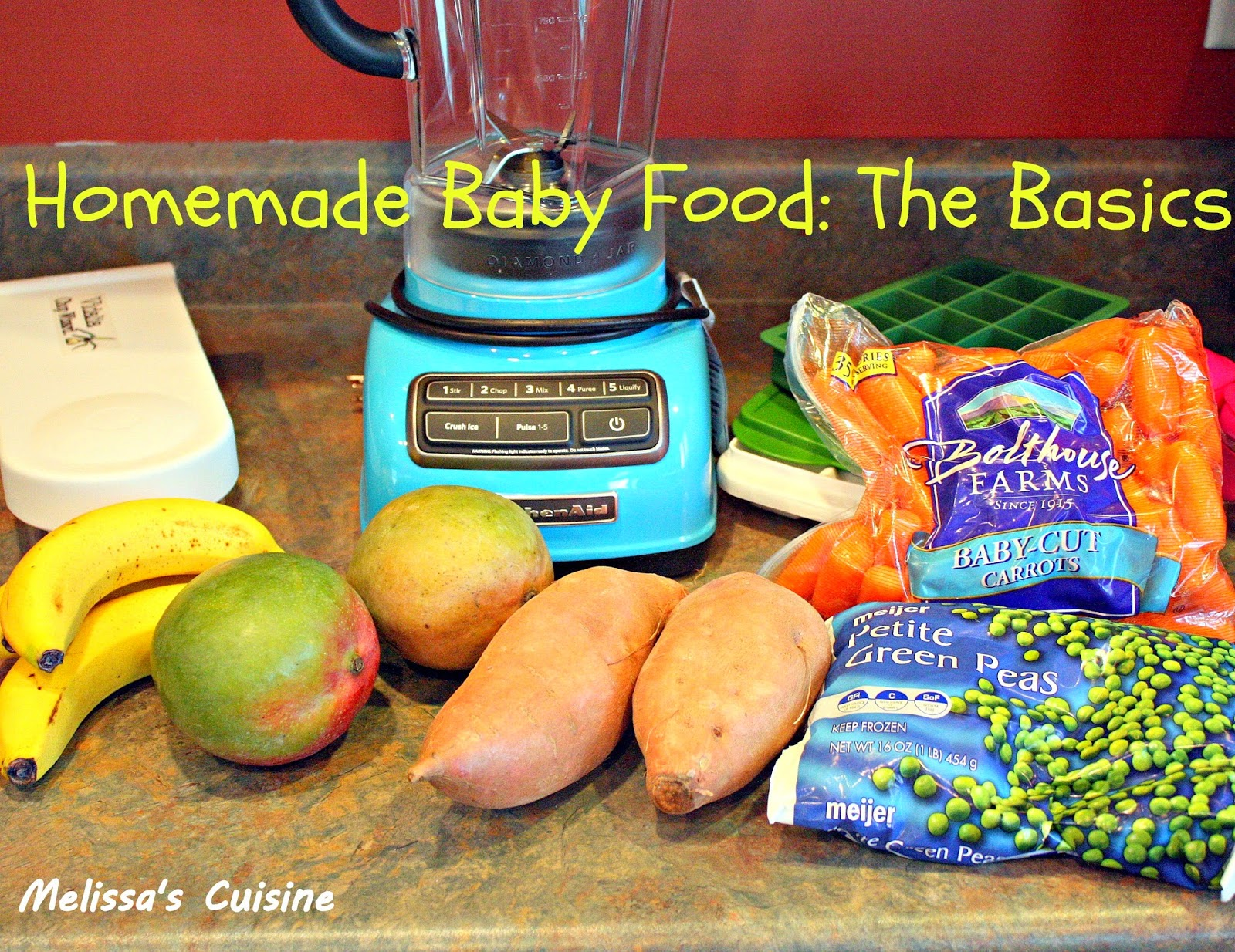 Melissa's Cuisine:  Homemade Baby Food: The Basics