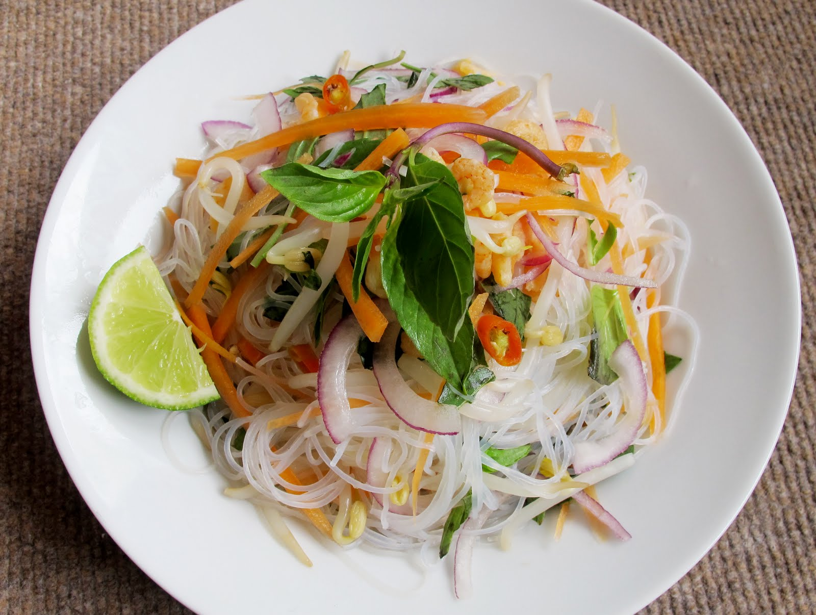 ... refreshing salad is called for i made som tum a green papaya salad at