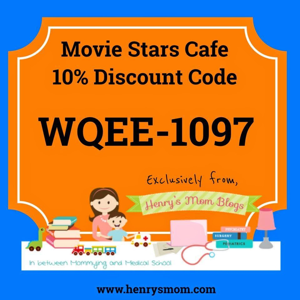 Henry's Mom Reviews: Movie Stars Cafe plus Discount Code