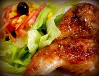 Pollo en salsa anticuchera