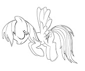 #16 Rainbow Dash Coloring Page